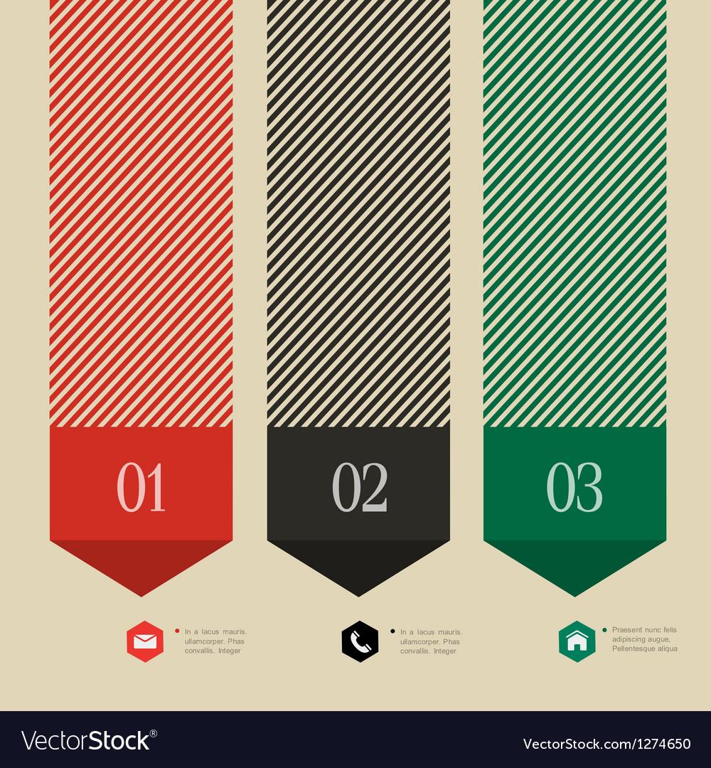 Vertical banner arrow design for infographics vector
