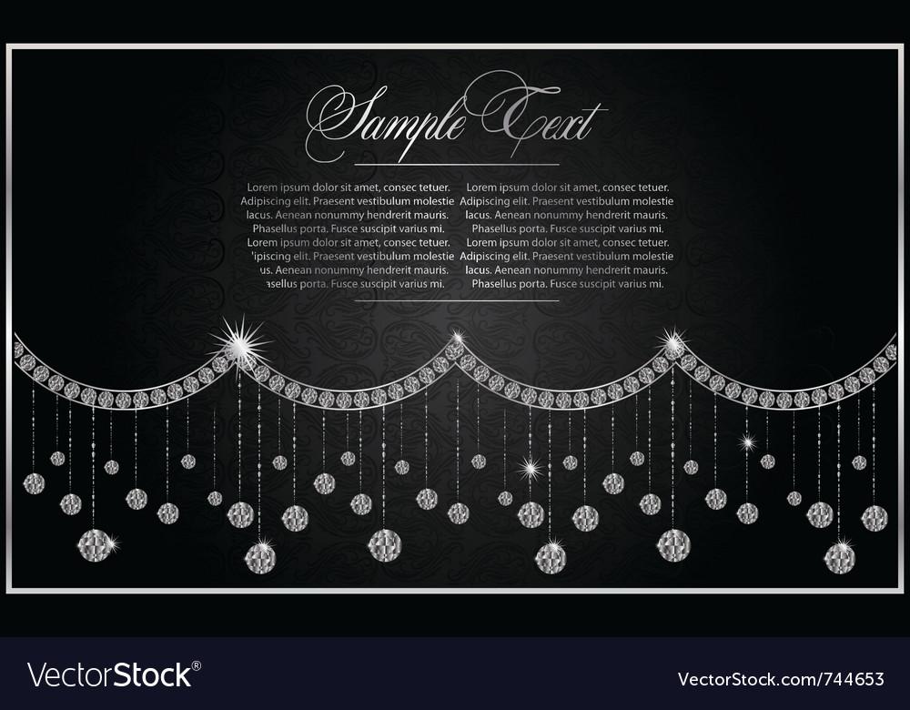 Diamond greeting card vector
