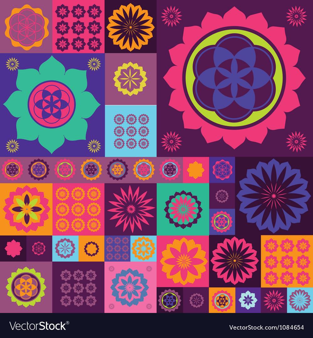 Magic violet lotos design vector