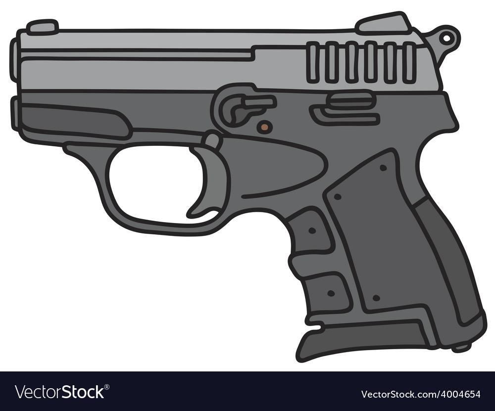 Small handgun vector