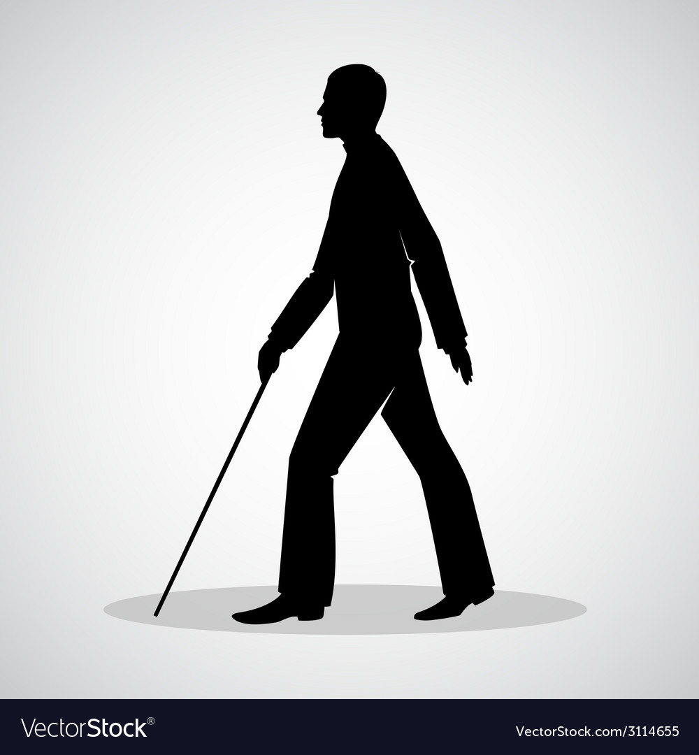 Blind man vector
