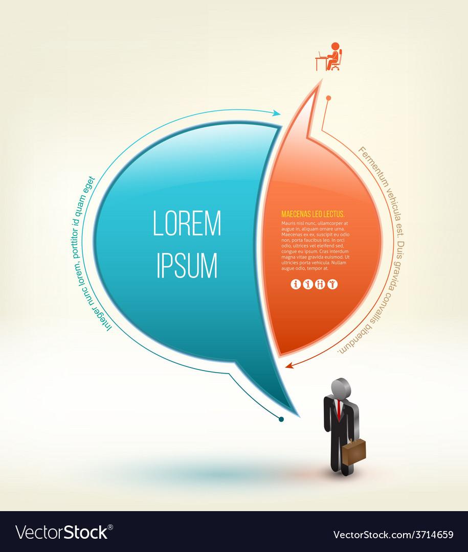Speech idea design with business man 3d icon vector