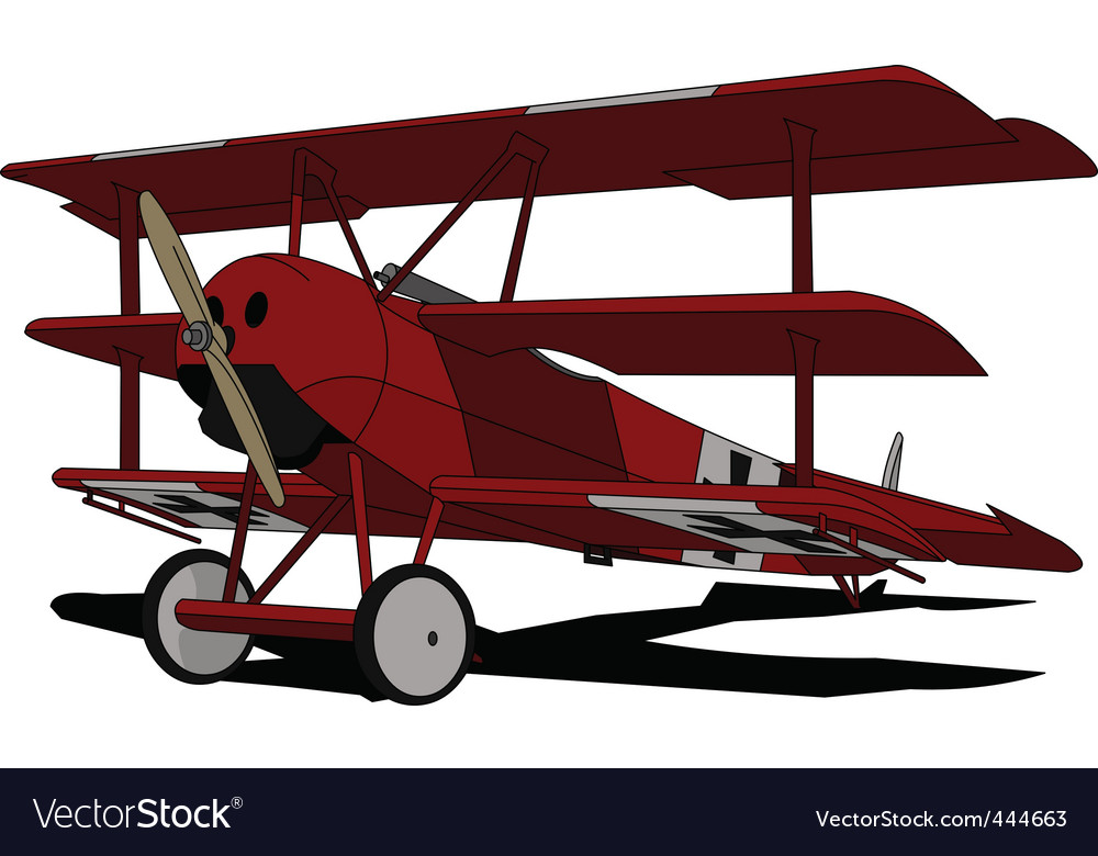 Red baron vector