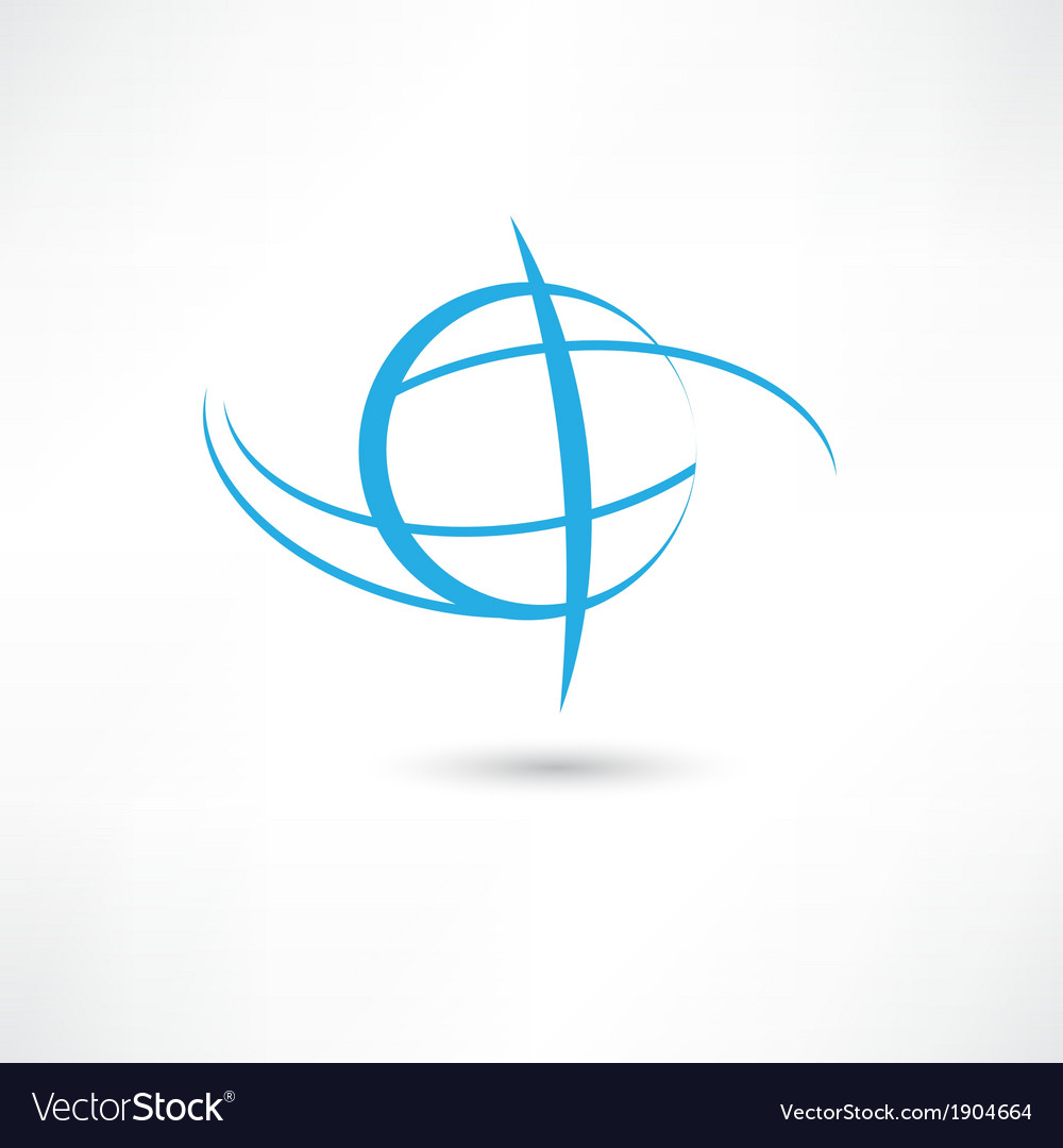 Planet line symbol vector
