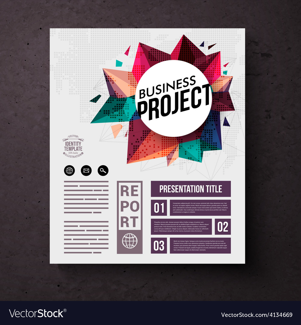 Business identity web template on brown background vector