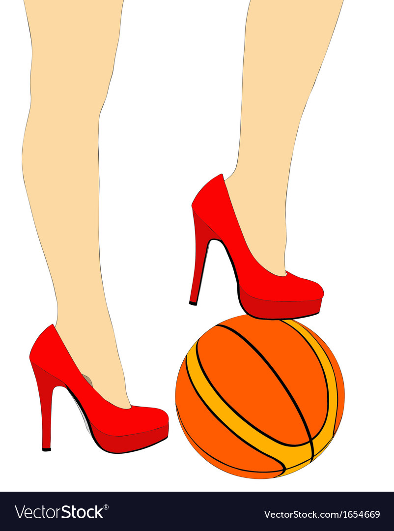 The nice legs of a sporty woman vector