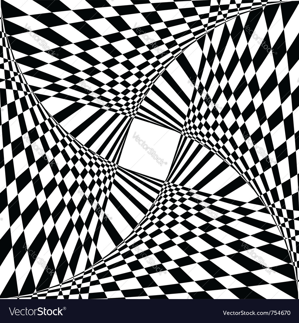 Optical illusion effect vector