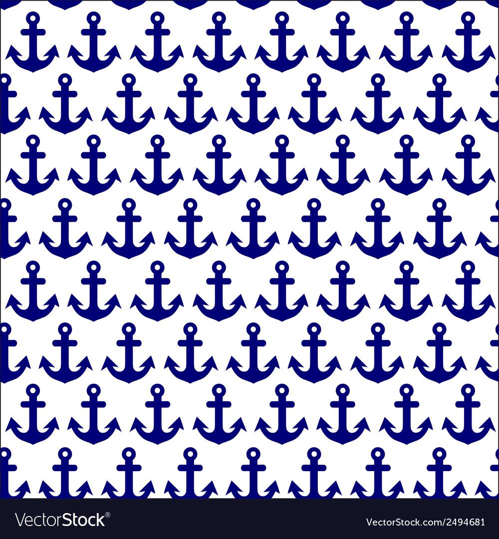 Beautiful anchor seamless vector