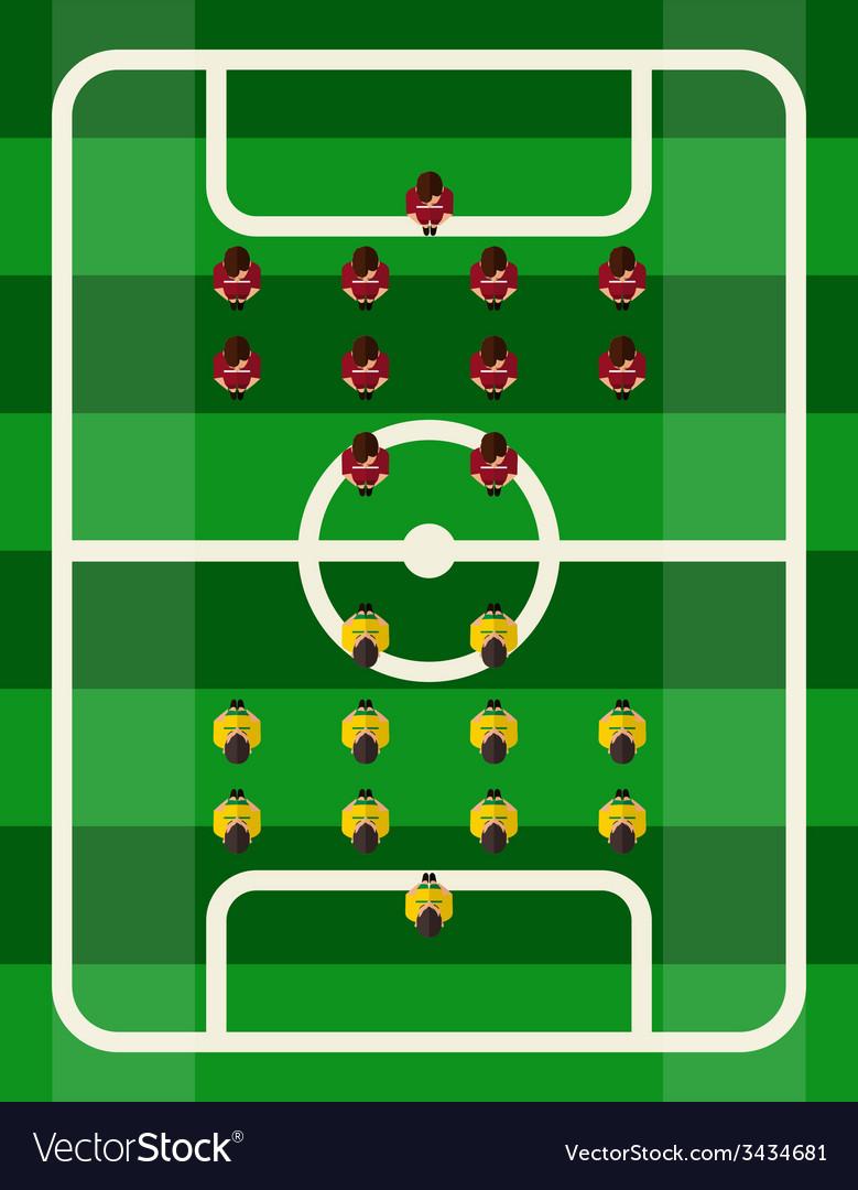 Soccer stadium top view vector