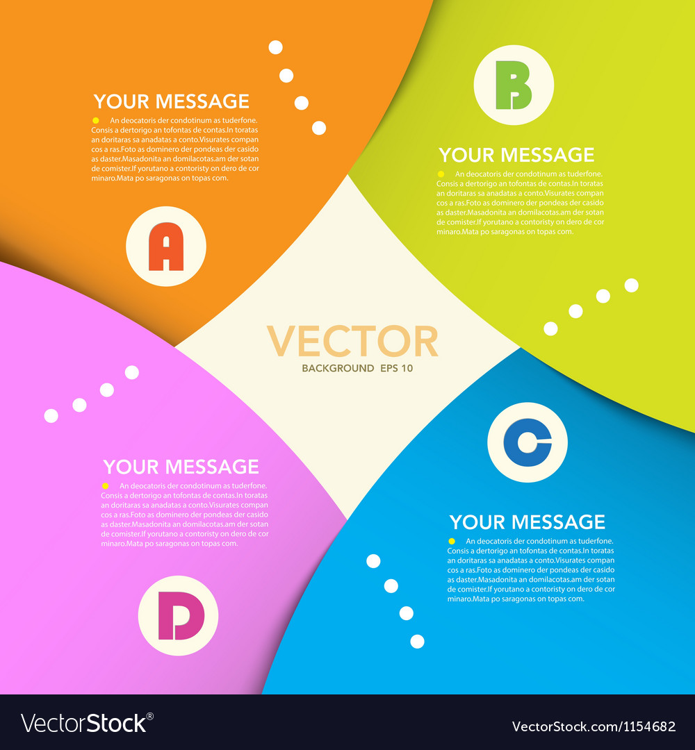 Abstract origami banner background eps10 vector