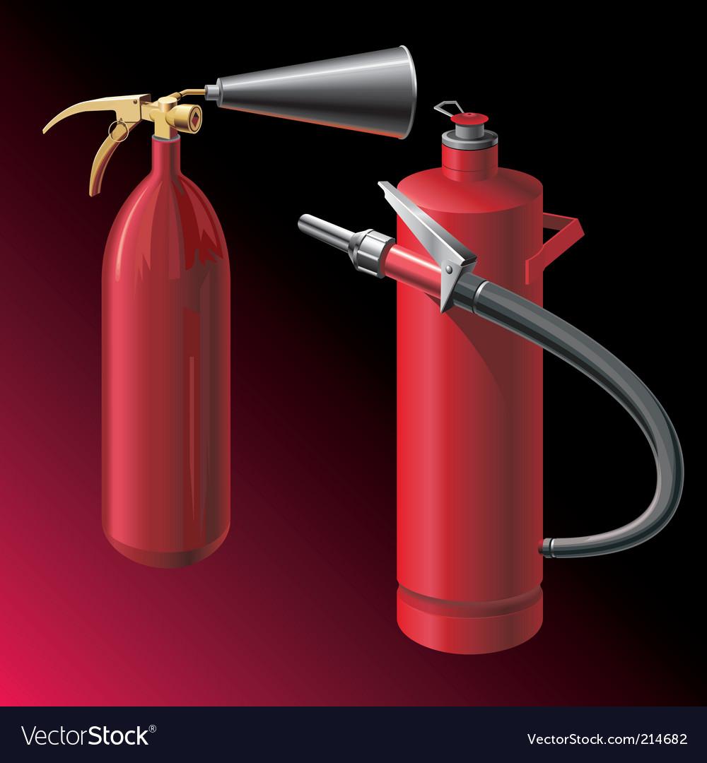 Fire extinguishers vector