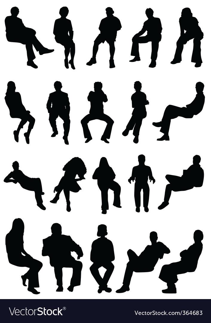 Sitting people vector