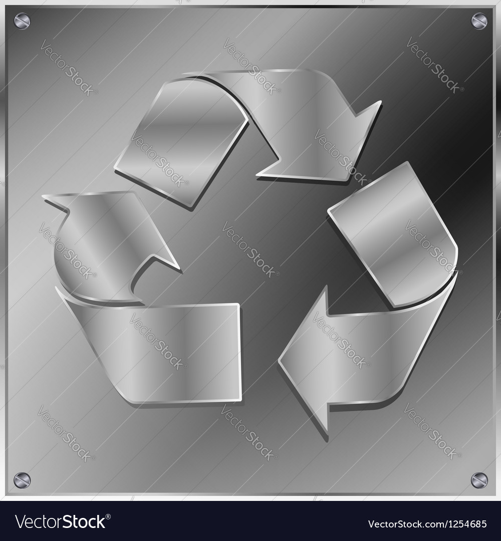Metal recycle sign vector