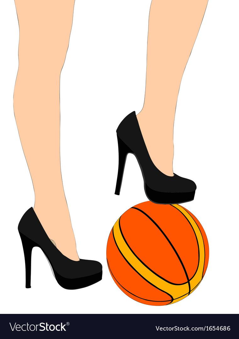 Sporting legs 2 vector