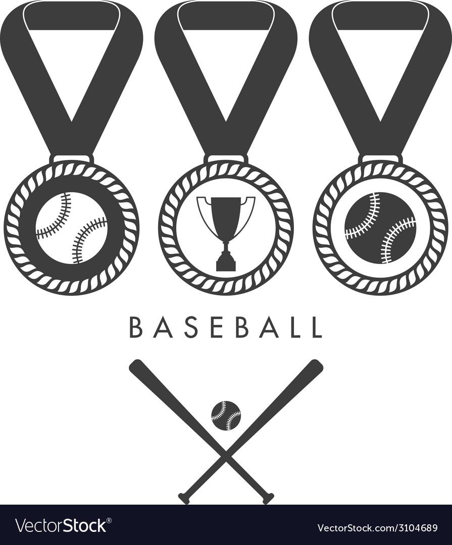 Baseball set vector