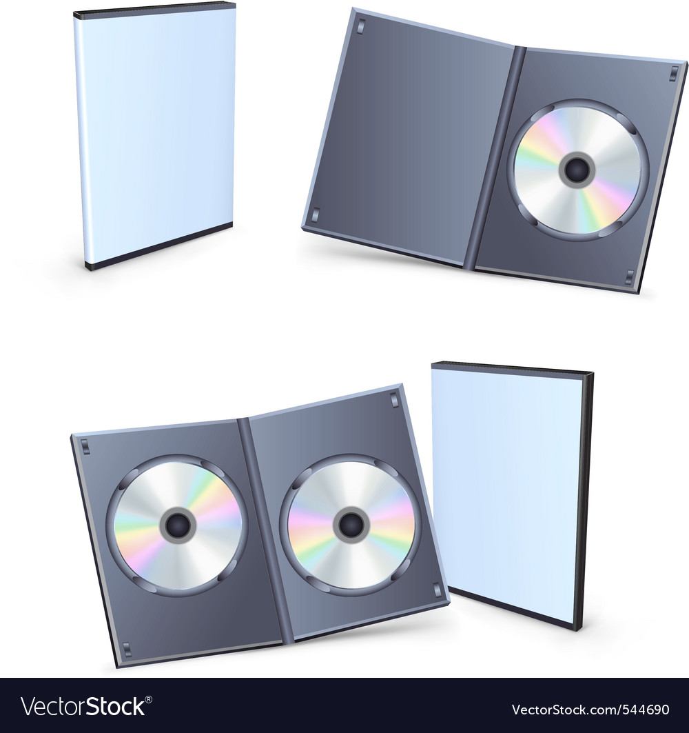 Blank dvd boxes vector