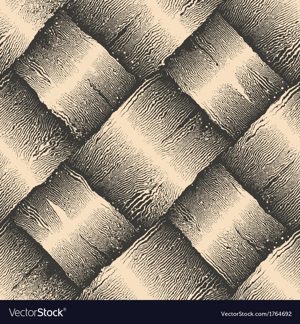 Engraving aged rough basket texture vector