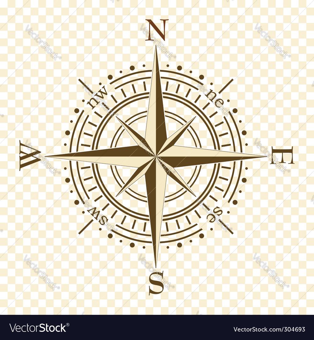 Brown compass vector