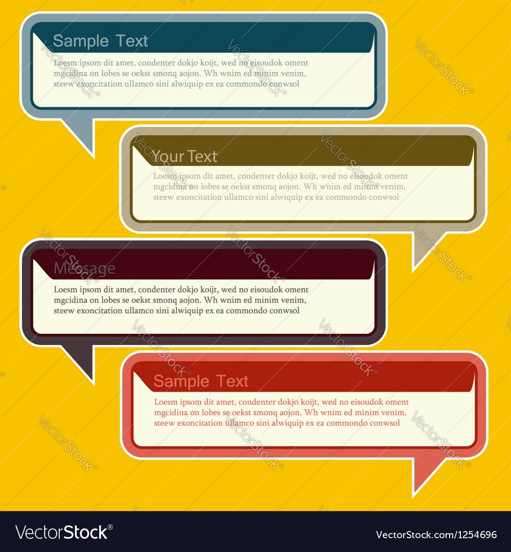 Abstract design speech bubble vector
