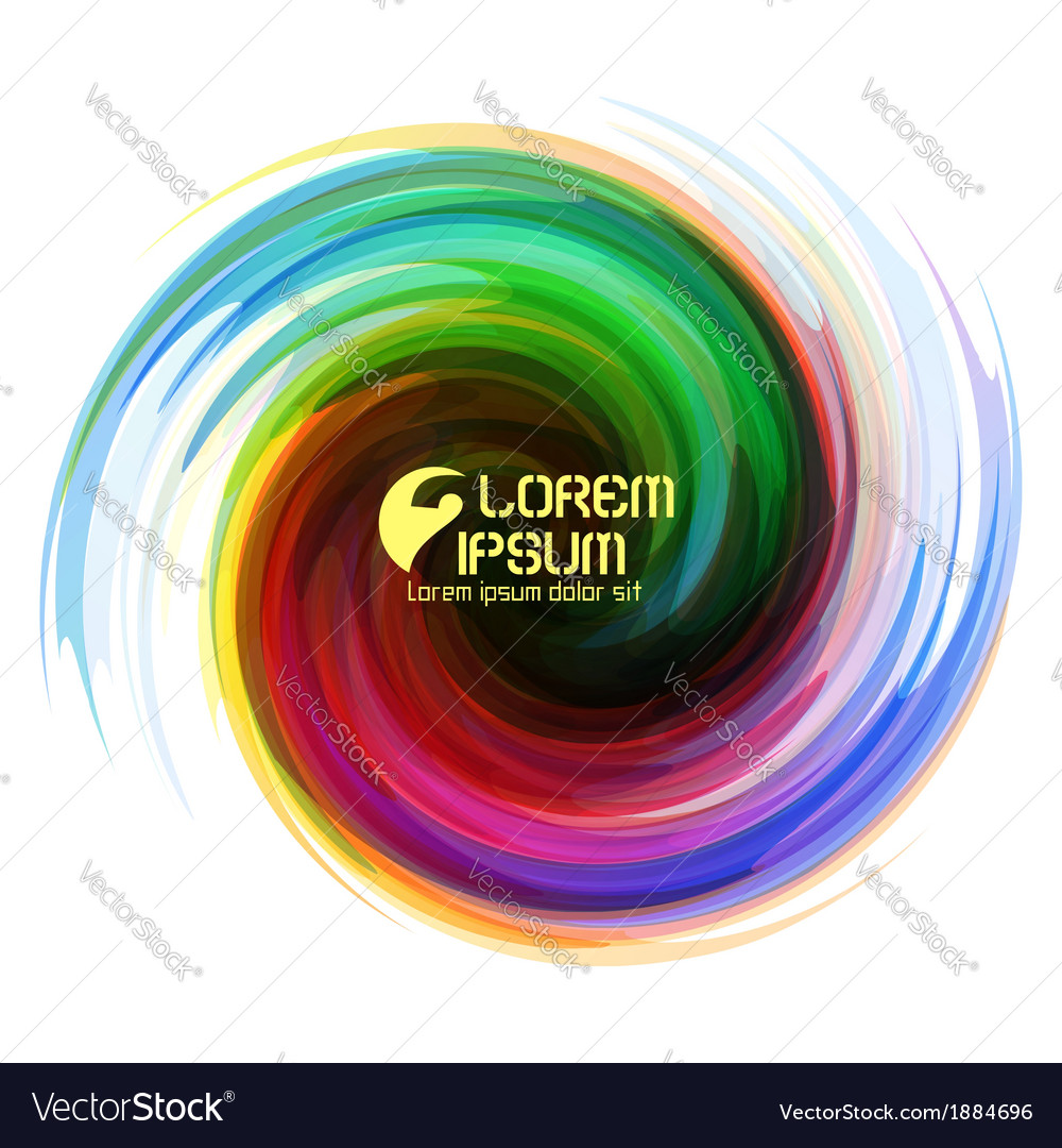 Colorful abstract icon vector