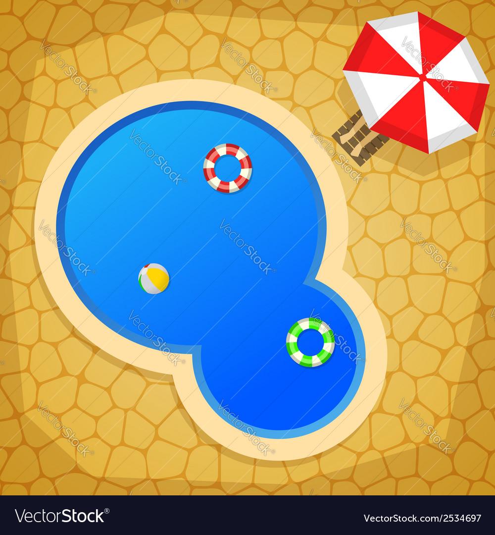Swimming pool vector