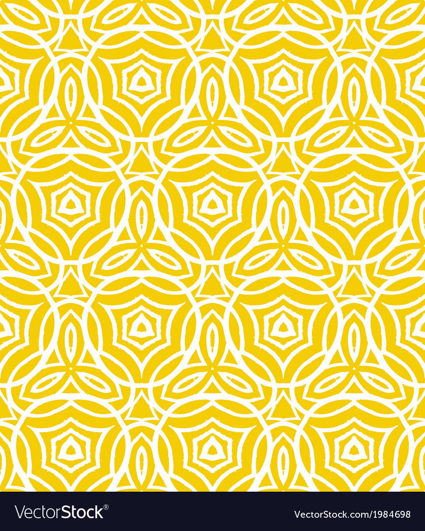 Vintage art deco pattern with curved lines vector