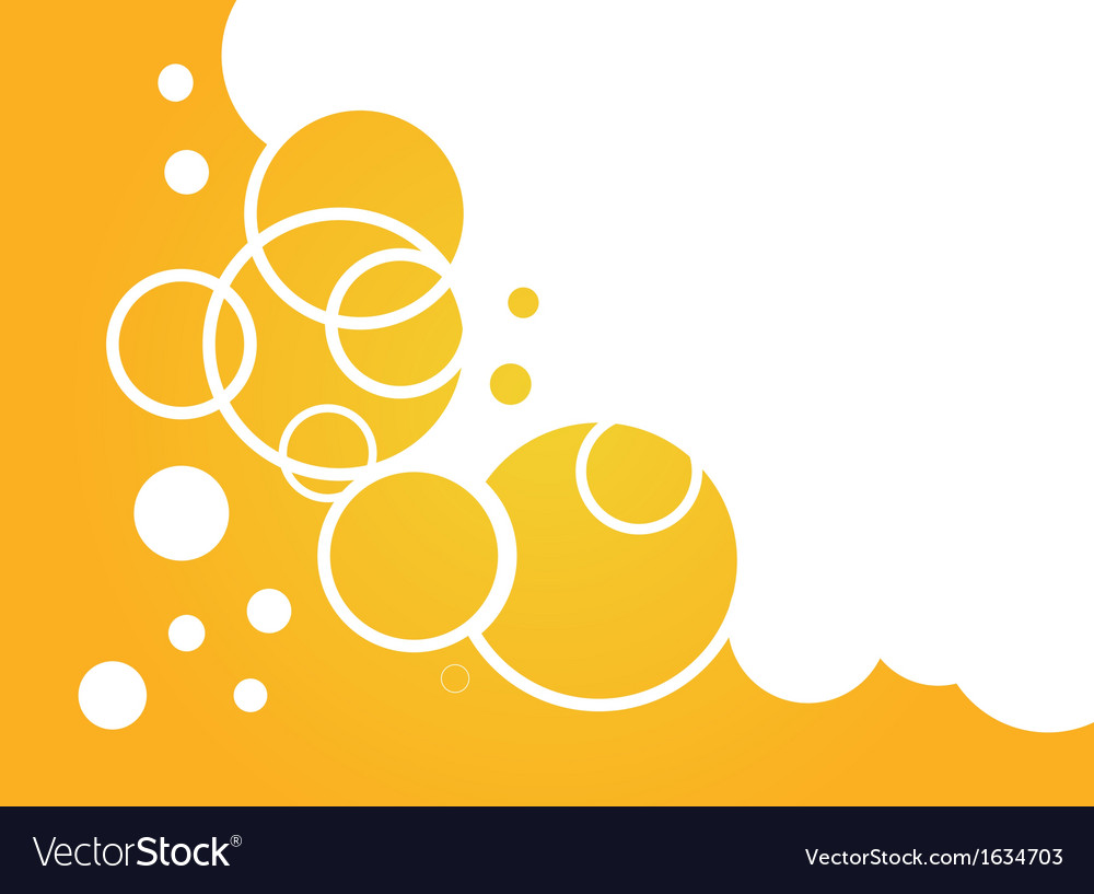 Yellow soap buble background vector