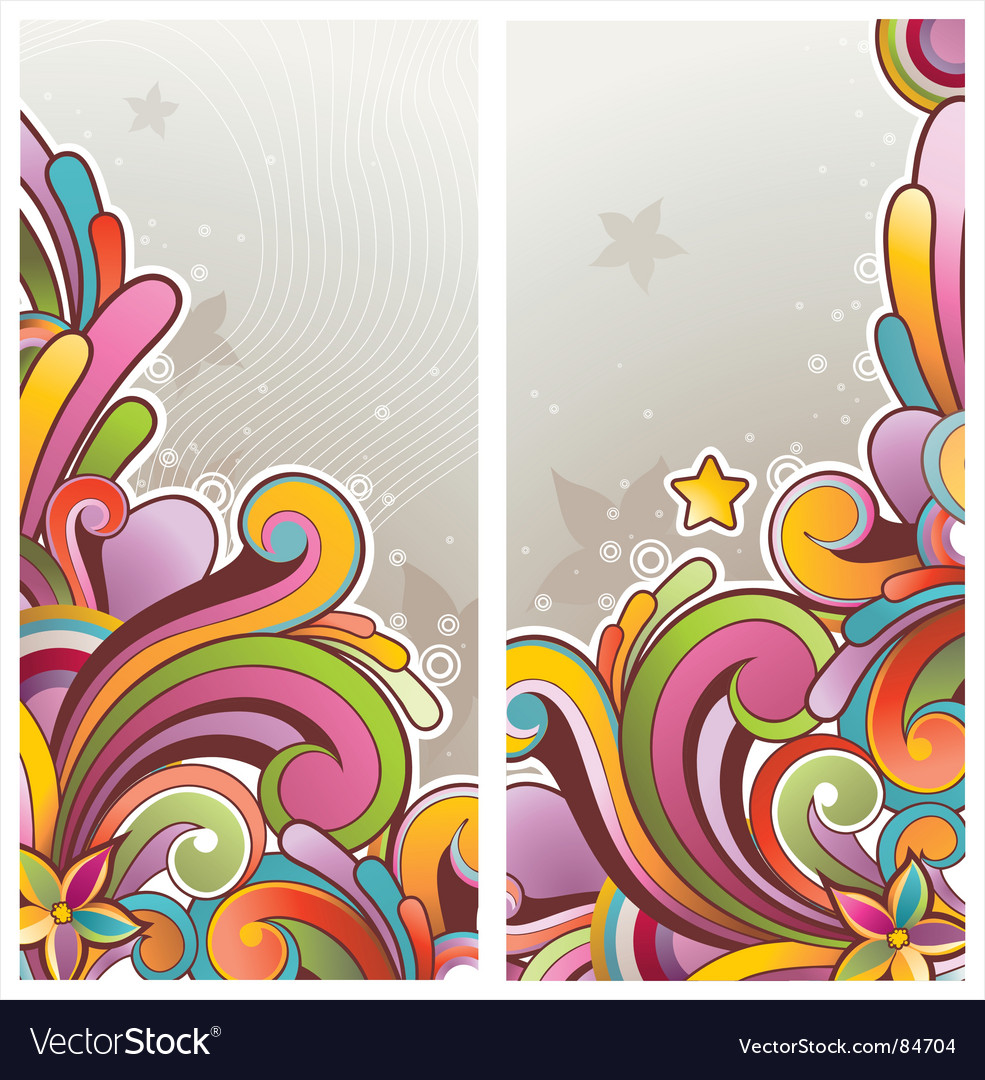Funky graphic banners vector