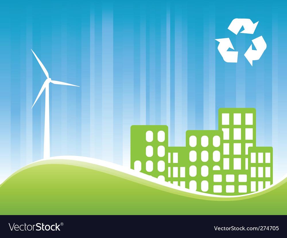Green city vector