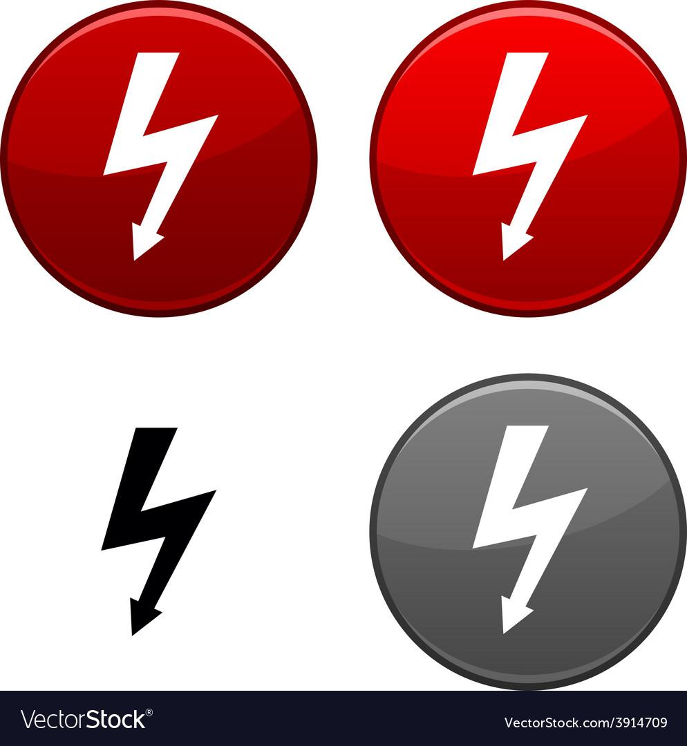 Warning button vector