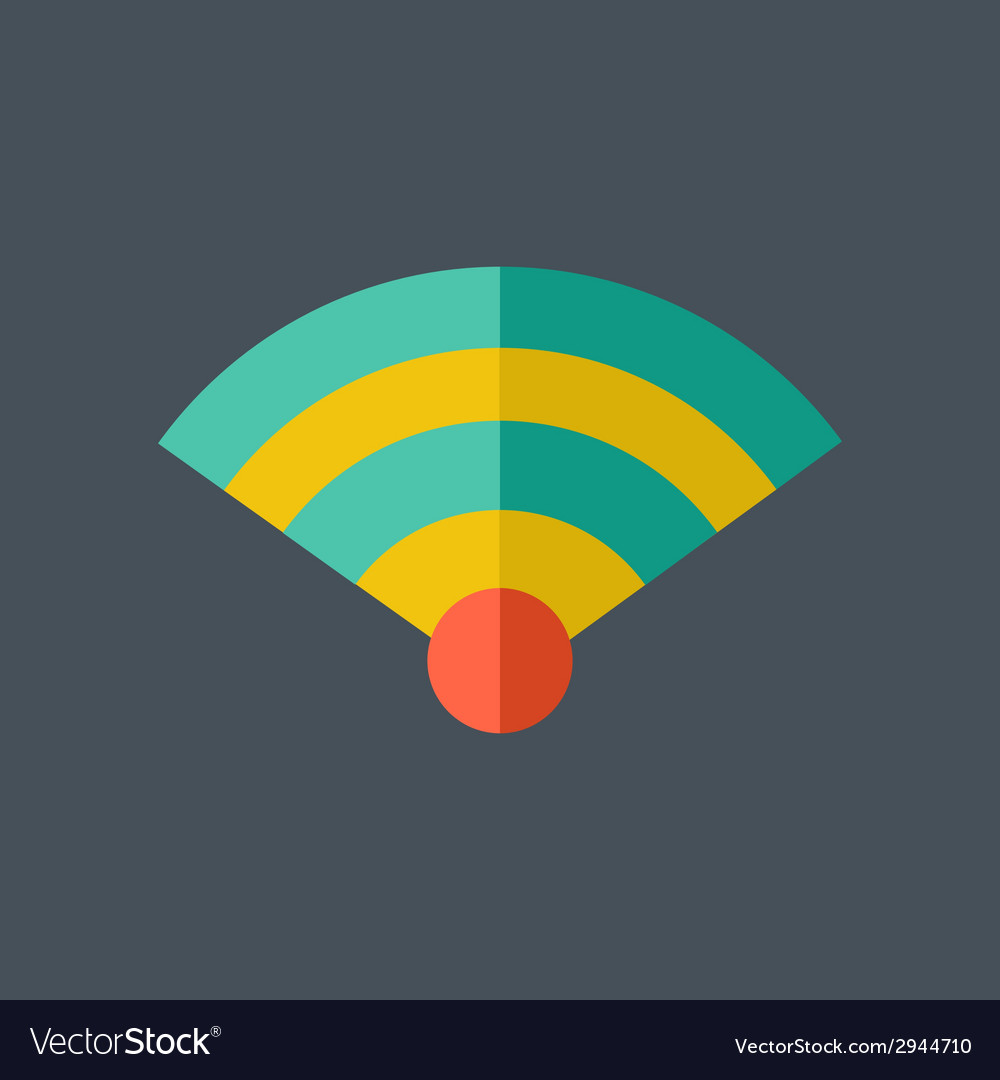 Network flat icon vector