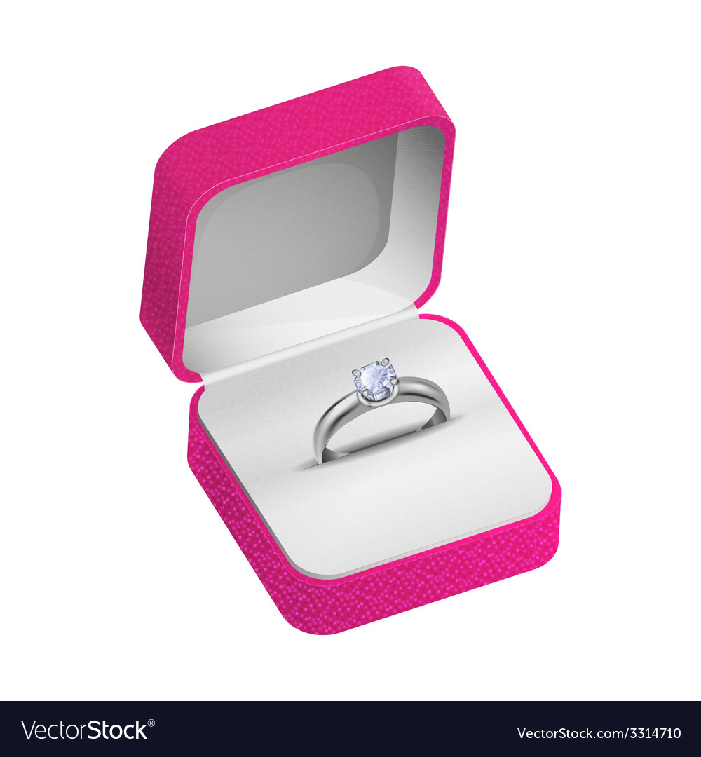 Silver ring vector