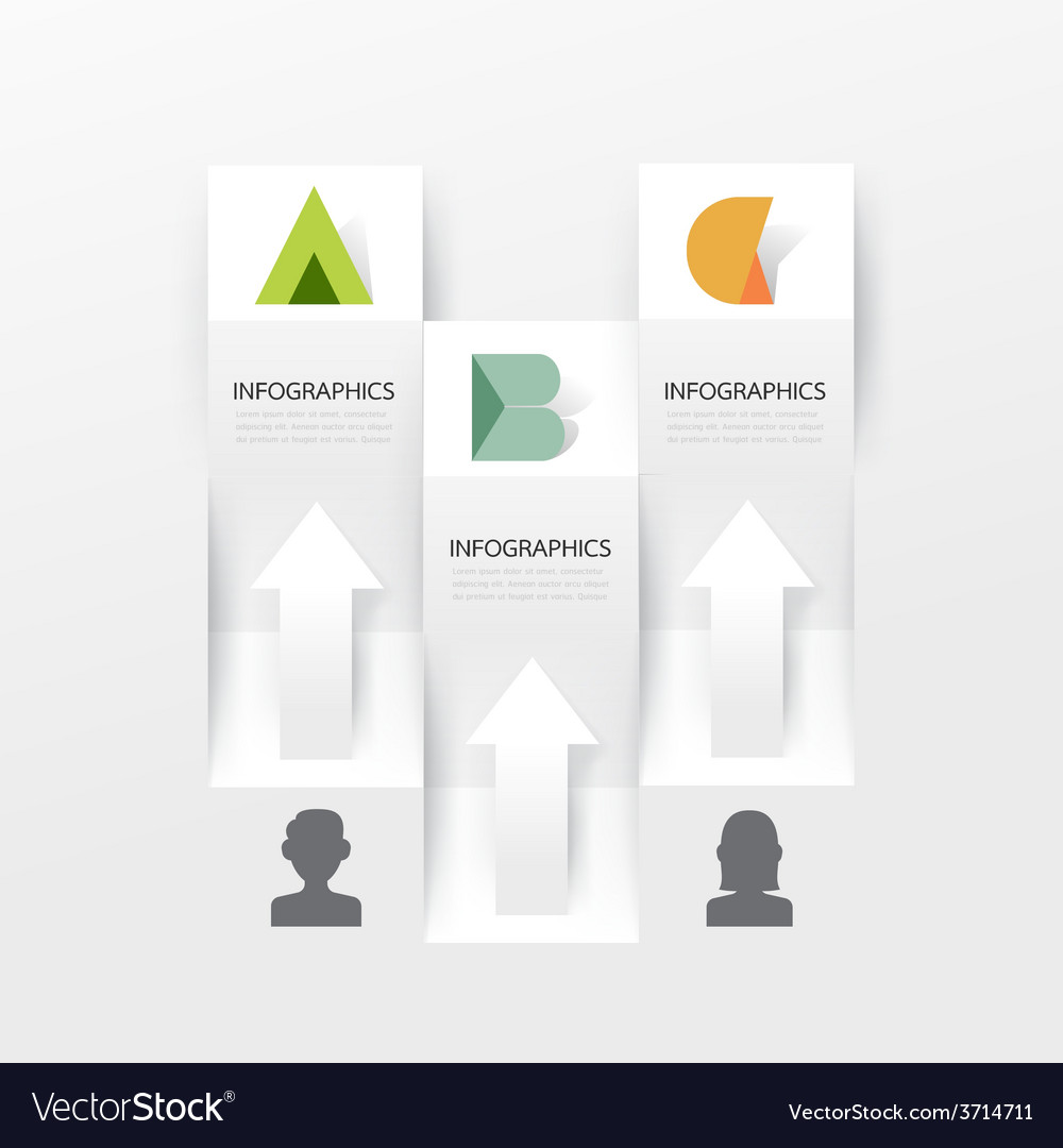 Modern infographic banner design template vector