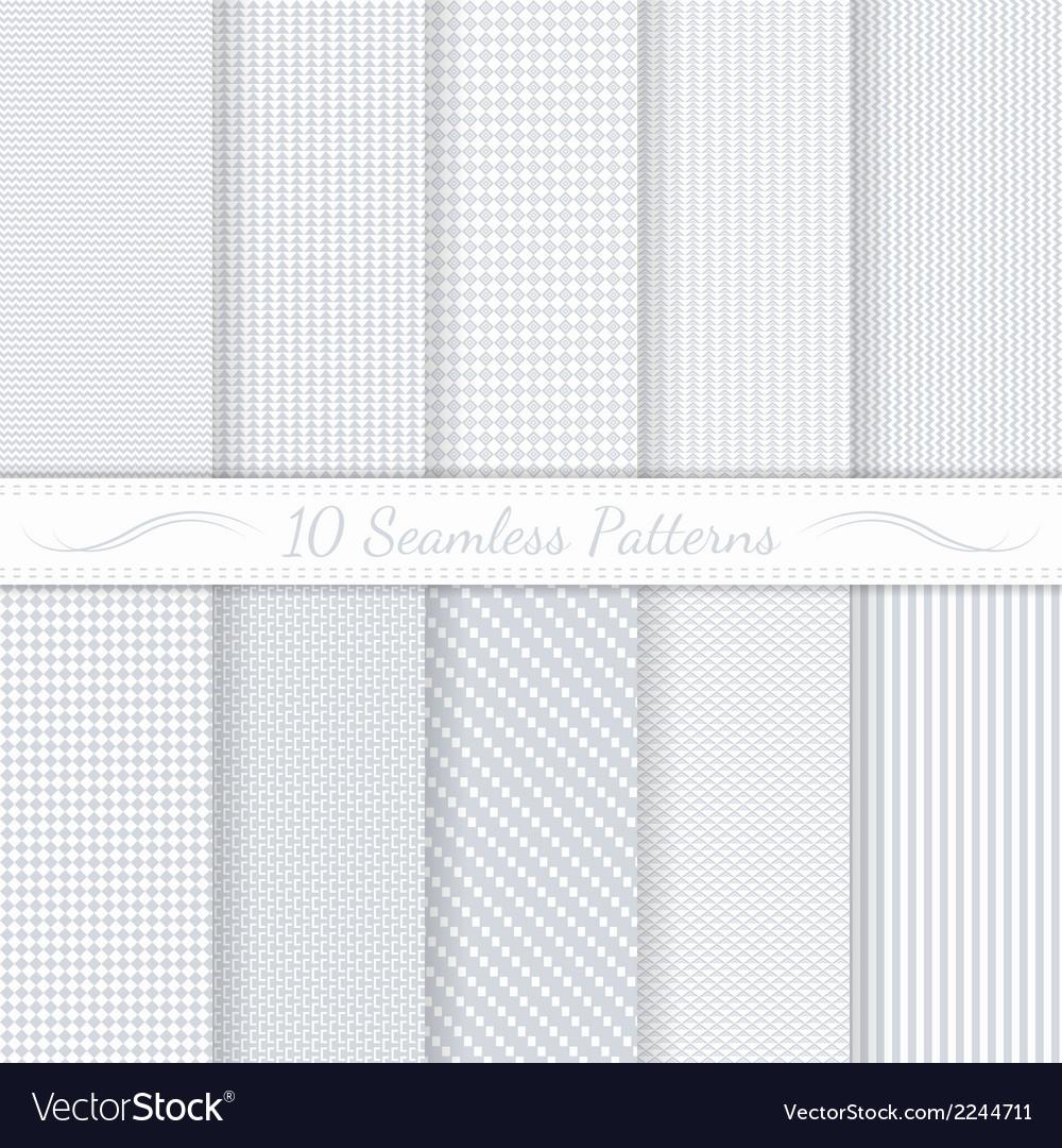 Set of ten seamless retro patterns vector