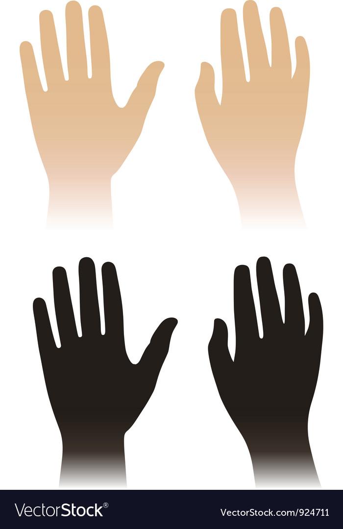 Woman man hands vector