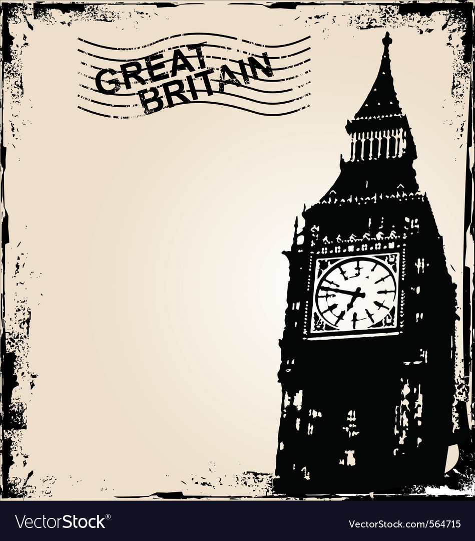 Great britain background vector