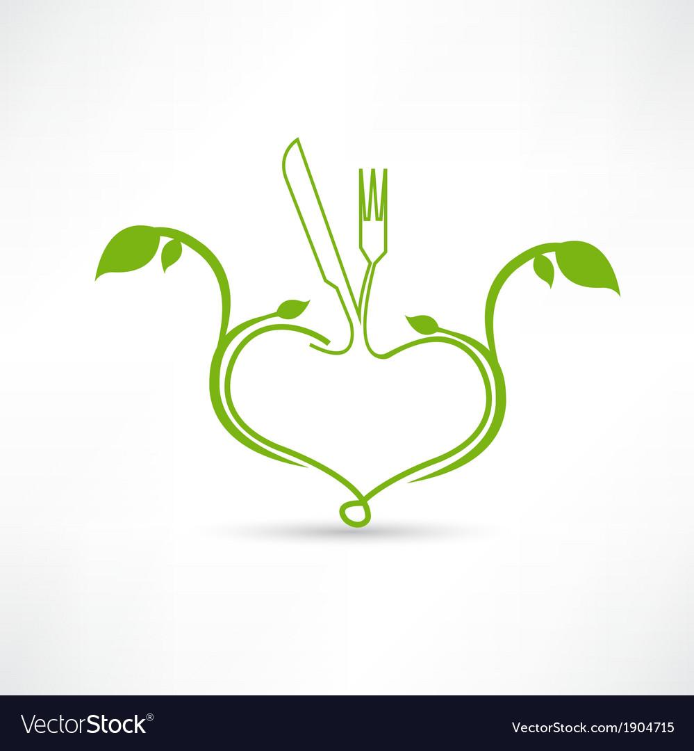 Natural food icon vector
