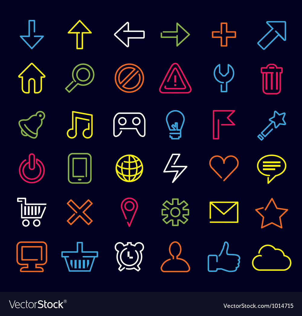 Technology icons and signs vector