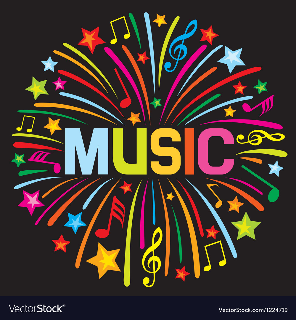 Music firework vector