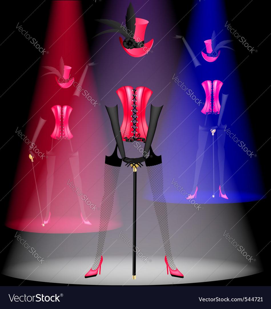 Cabaret dancer vector