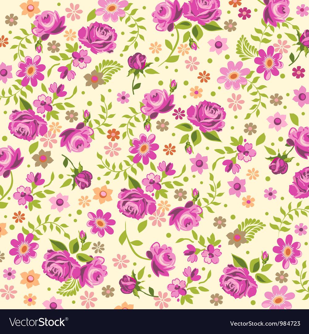 Cream rose background vector