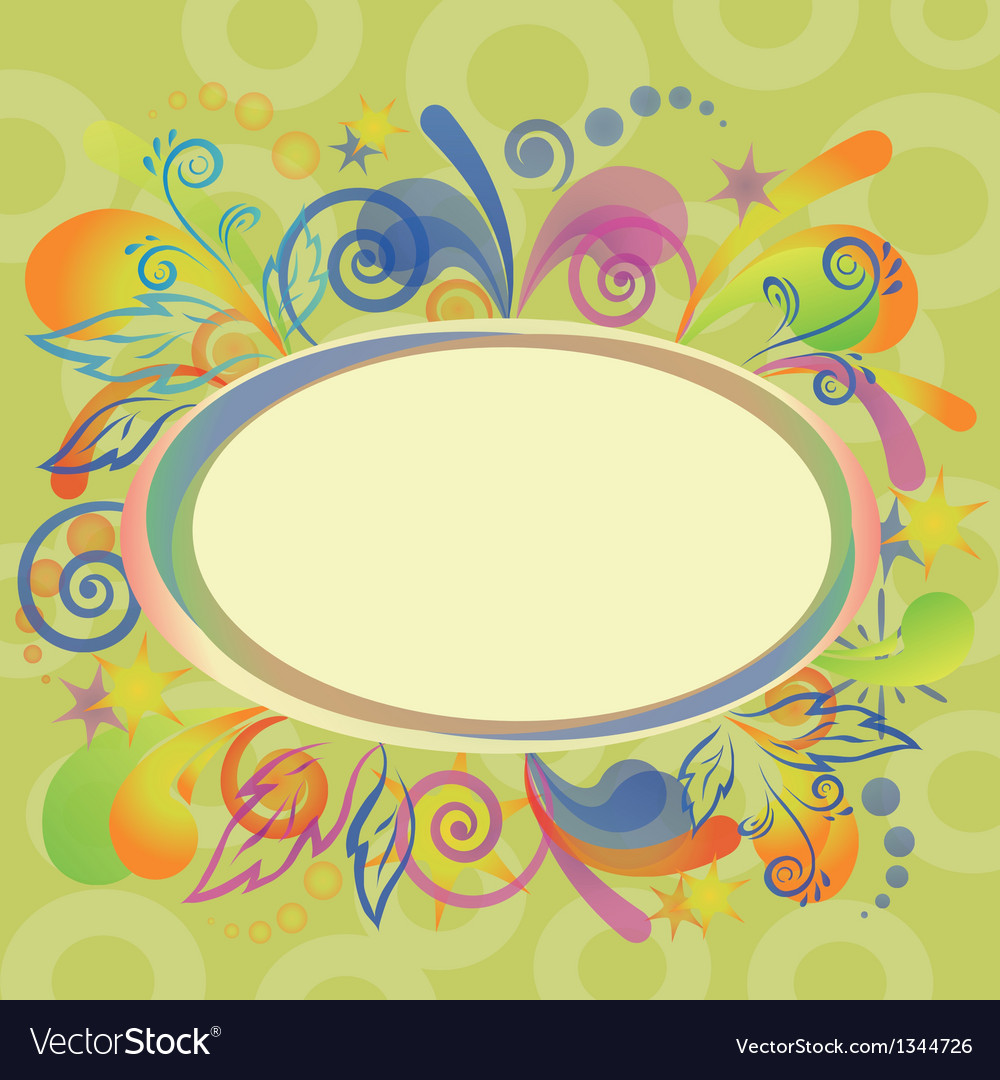 Abstract holiday background with frame vector