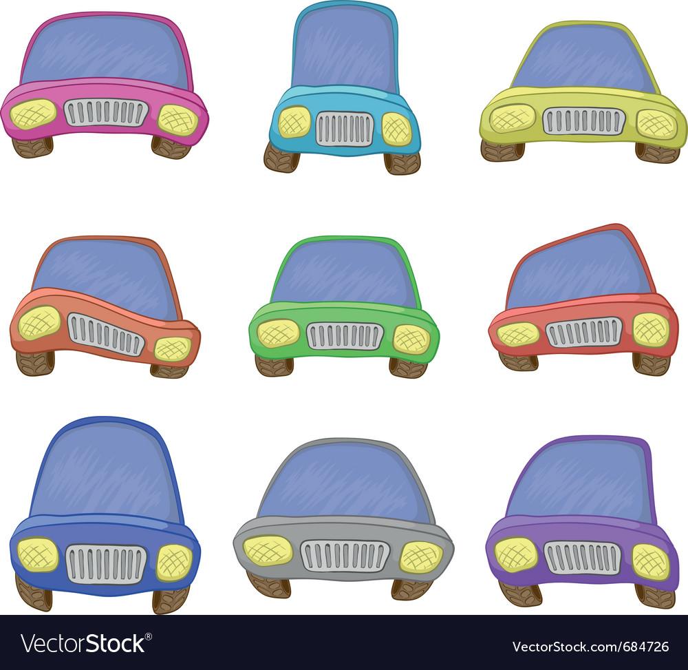 Cartoon set cars vector