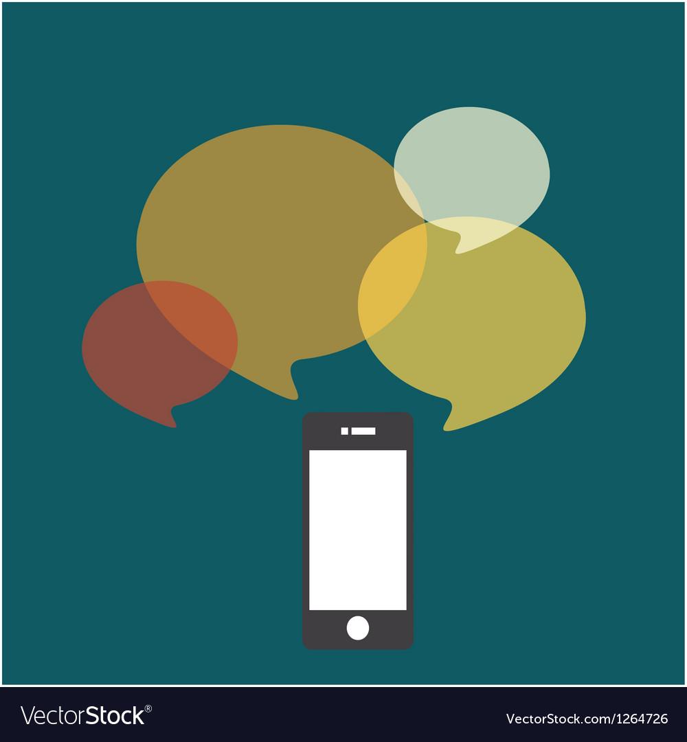 Smartphone bubble quote vector