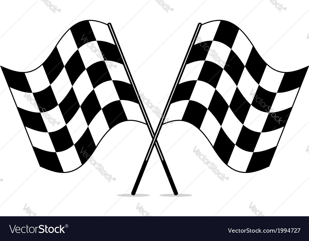Racing checkered flags vector
