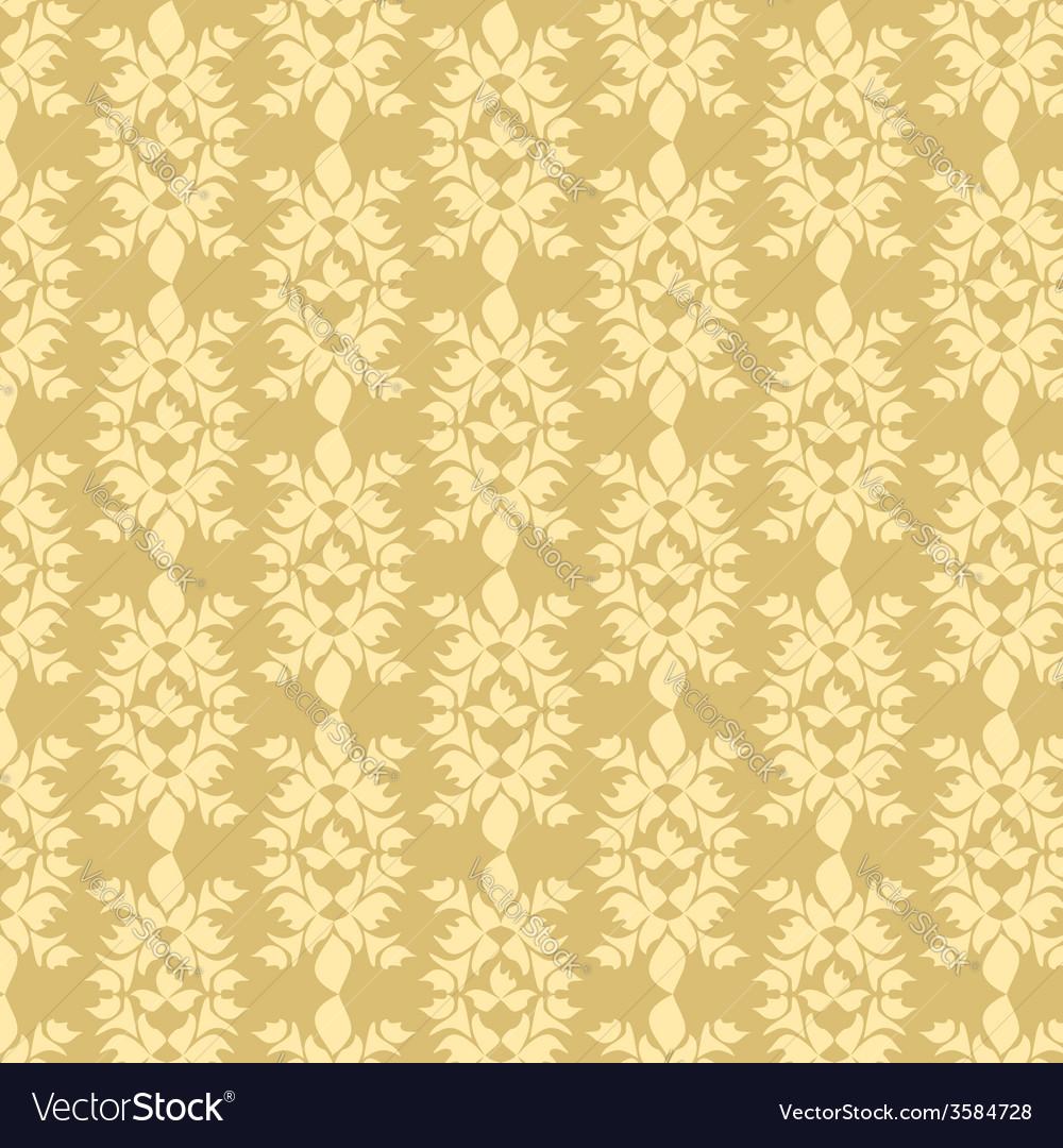 Decorative seamless golden pattern vector