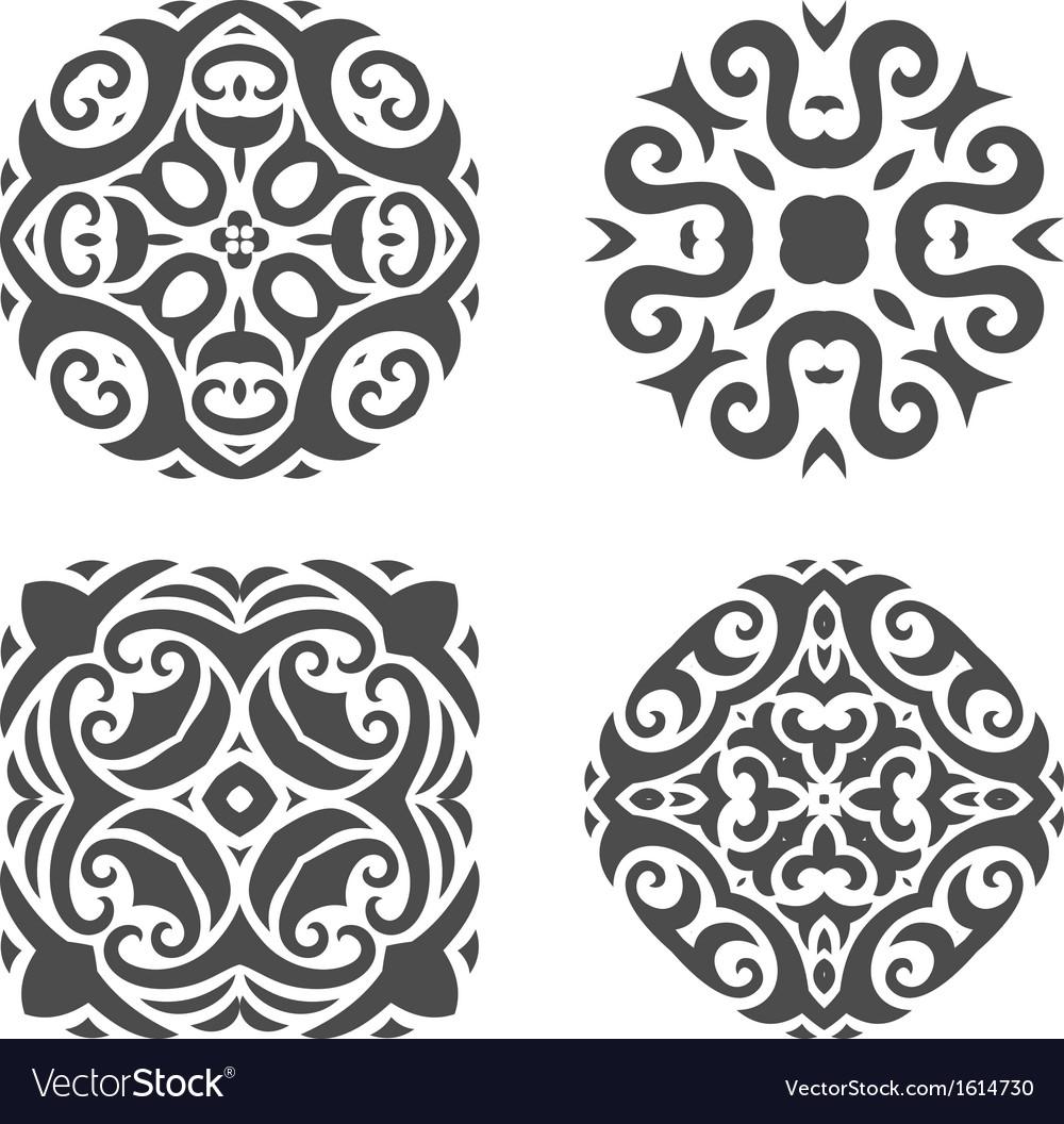 Abstract mehndi ornament - vector