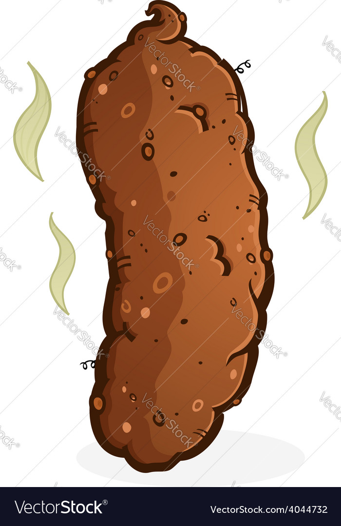 Turd poop cartoon vector