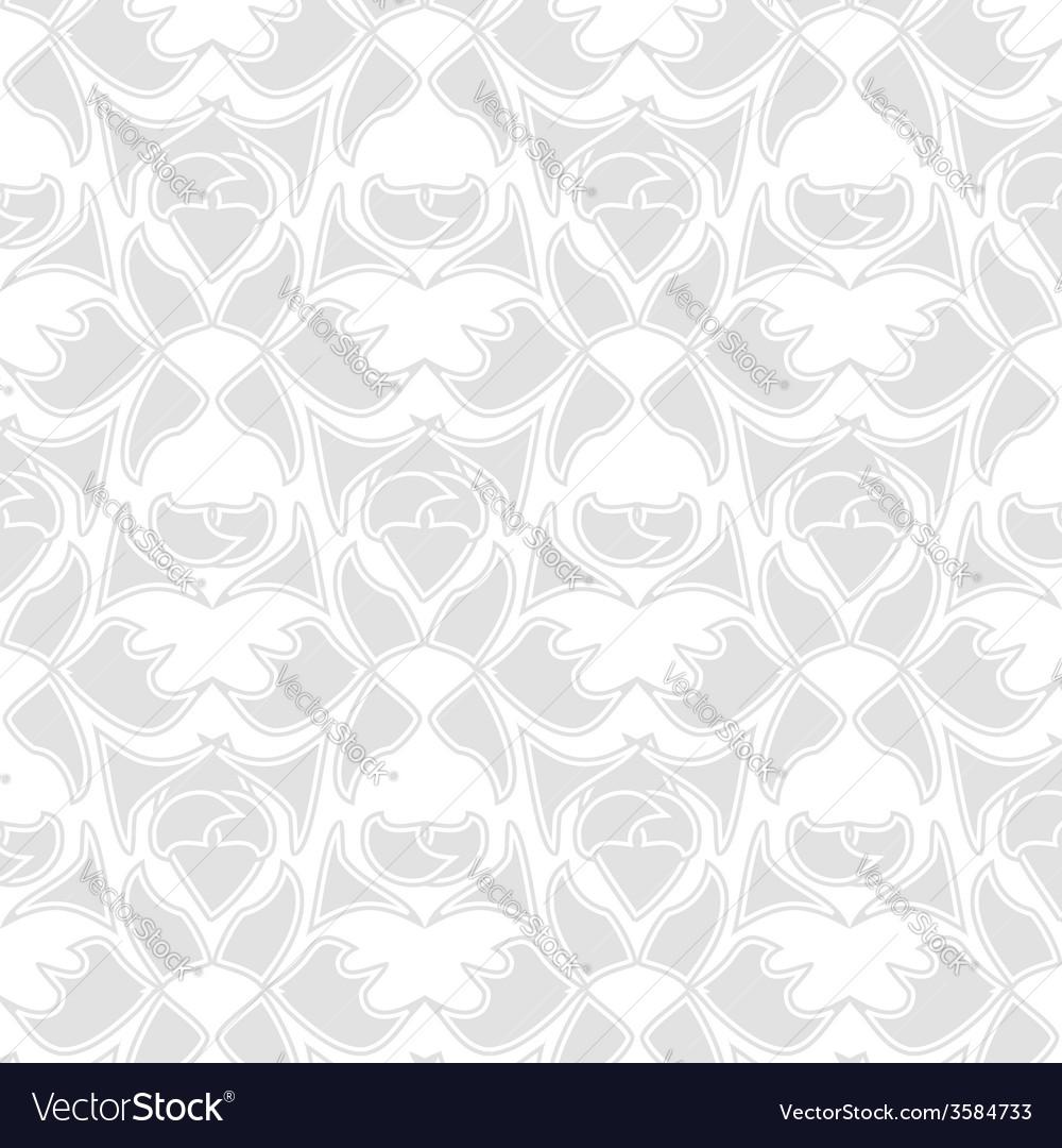 Decorative seamless pattern silver vector