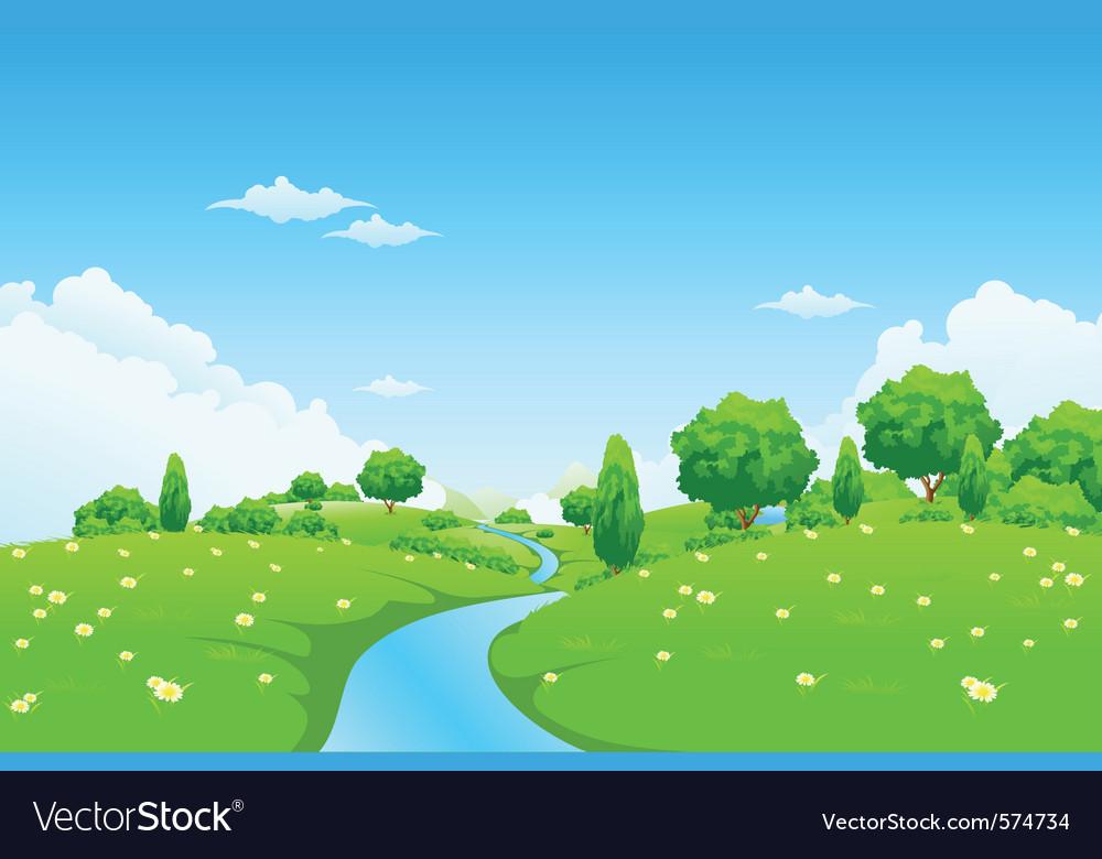 Green city landscape vector
